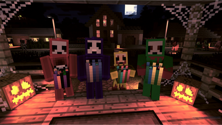 (Minecraft) SlendyTubbies going Trick or Treating by stotlerb21