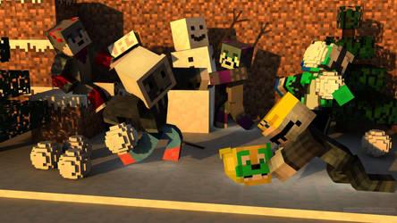 (Minecraft) Snow Ball Fight by stotlerb21