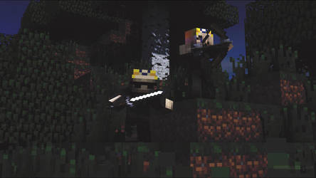 (Minecraft) Me and Slender Ruby by stotlerb21