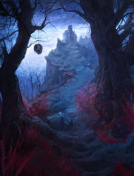 night hill by AlexeyZaporozhets