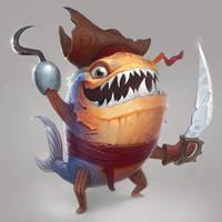 piranha pirate by AlexeyZaporozhets