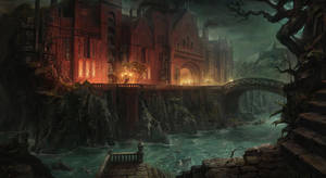 Mr. Black castle by AlexeyZaporozhets