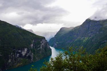 Geiranger Fjord by StarrDanielArt
