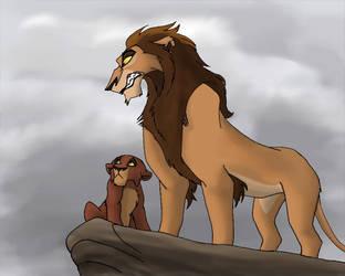 Zira and Kovu by PheaVampire