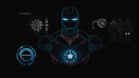 JARVIS + SHIELD Interface : Wallpaper by edreyes