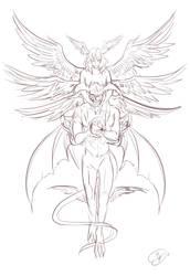 Devilman s Sketch by Kyotox33JDI