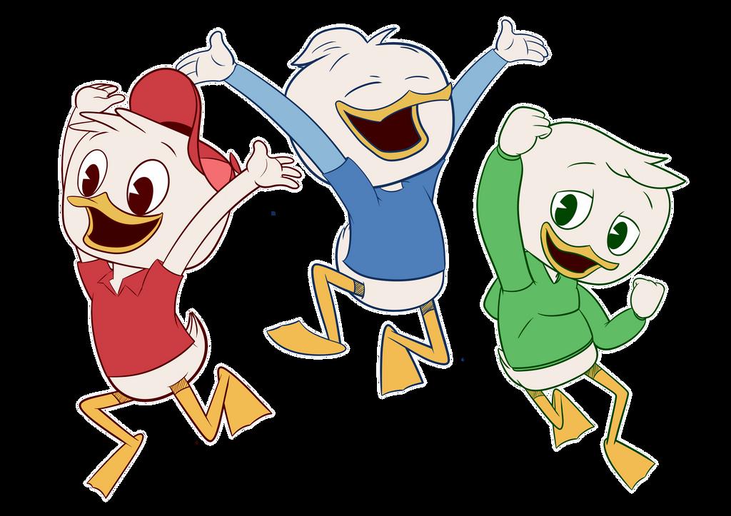 W Ducktales Huey, Dewey and...