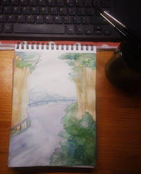 last time I painted watercolors... by KeyHof