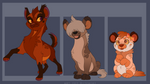Unique Hyena Adoptables -SOLD OUT- by Kitchiki