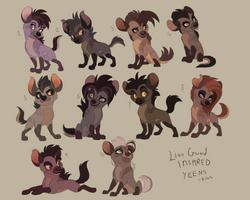 Lion Guard style Hyena Adopts by Kitchiki