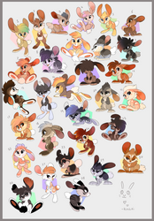 Bunny Adoptables #3 by Kitchiki