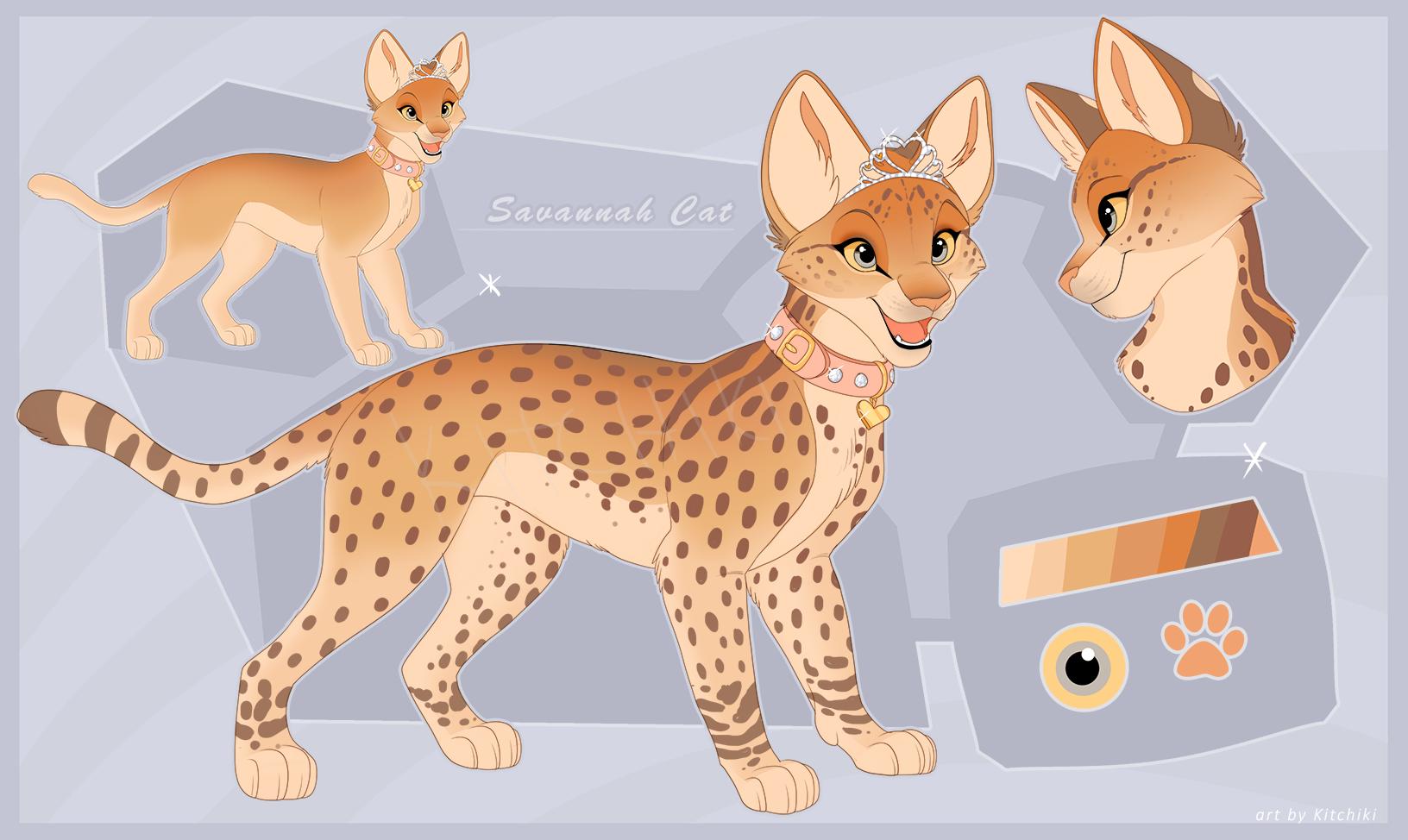 Savannah Cat -Design Auction- by Kitchiki