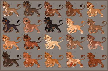 Lion King Inspired Cub Adopts -OPEN- by Kitchiki
