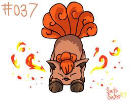 #037 Vulpix by SaintsSister47