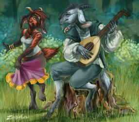 ArtTrade..The Pied Piper by ZombieGnu
