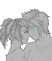 Comforting Prompto by MadeInHeavenFF15