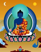 Medicine Buddha by JewelOfSong