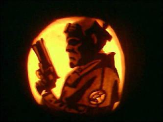 Pumpkin 2009 Hellboy by marggarg