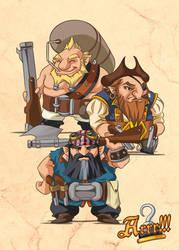 Arrr!!! - Dwarven buccaneers by MauroPeroni