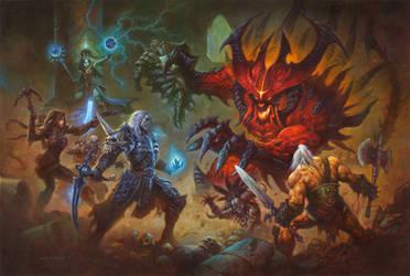 Diablo Vs Necromancer by AlexHorley