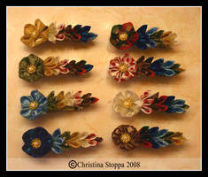 Rainbow Flowers by Kurokami-Kanzashi
