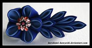 Two Blues Blossom by Kurokami-Kanzashi