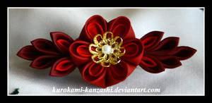 Red Fire Flower by Kurokami-Kanzashi