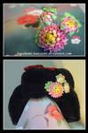Blossoming Peonies by Kurokami-Kanzashi