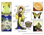 Tiger Swallowtail - Kitsuke Concept Sketch by Kurokami-Kanzashi