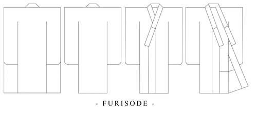 Furisode Design Template by Kurokami-Kanzashi