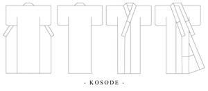Kosode Kimono Design Template by Kurokami-Kanzashi