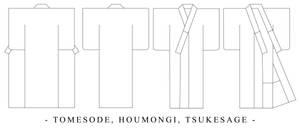 Tomesode Design Template by Kurokami-Kanzashi
