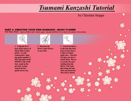 Kanzashi Tutorial - Part 4 by Kurokami-Kanzashi