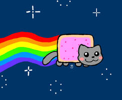 nyan cat by claws202