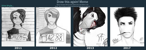 Draw this again - Dallas's evolution by JadeLikeJay