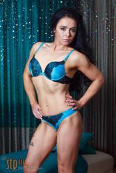 Laura W Blue Underwear Set 01 by stphq