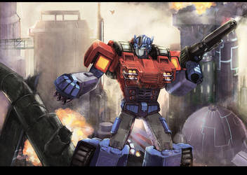 Optimus Prime of War Within by velveteen2006