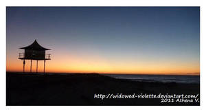 Semaphore Beach at Twilight by WiDoWeD-VioLeTTe
