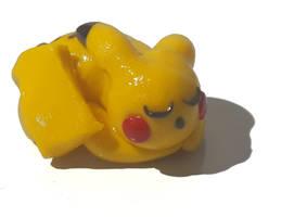 Handmade Sleeping Clay Pikachu by ClaycraftDecor