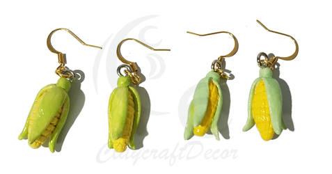 Corn Earrings by ClaycraftDecor