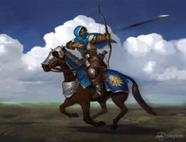 Rider archer by Tiesei