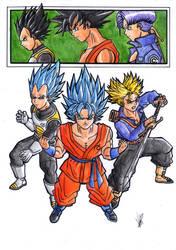Tres super saiyans by greatpunch10
