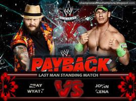 WWE Payback 2014 - John Cena vs Bray Wyatt by Jahar145