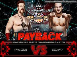 WWE Payback 2014 - Sheamus vs Cesaro by Jahar145