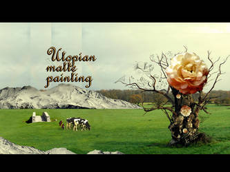 Utopian Matte Painting by Chrystos