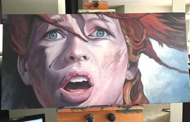 Milla Jovovich / Leeloo Dallas painting by SMcNonnahs