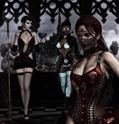 Tres Brujas Goticas by EscribaRegio