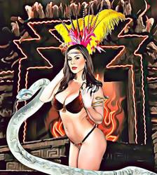 Kendra Lust  como Satanico Pandemonium by EscribaRegio