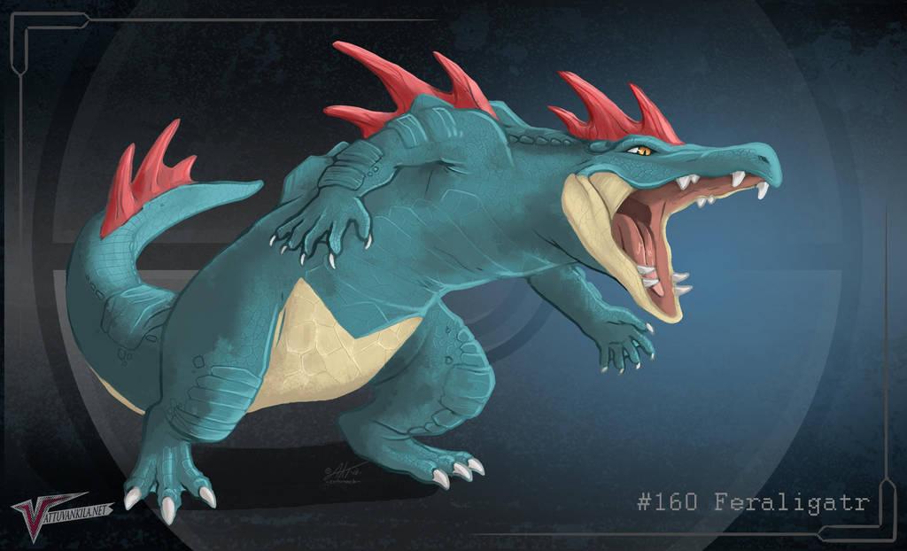 #160 Feraligatr by Ernunoob