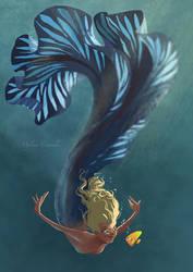 Blue mermaid by MyleneC